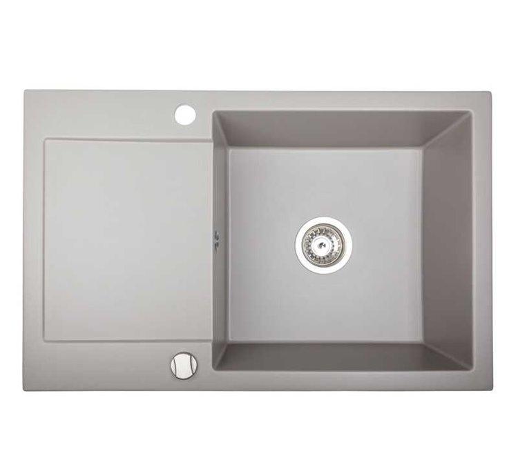 Évier Granit gris métallique 1 bac Alkor CC 78 cm