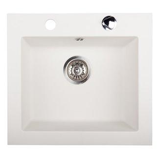 Évier Argo en Granit blanc 1 bac 48.5 cm