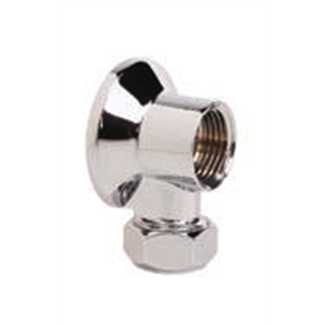 1/2 applique per rubinetto con dado cb Cromo Lucido