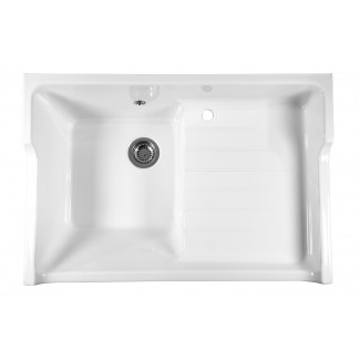 Ceramic Sink 1 Galley Galley White Grand Siecle