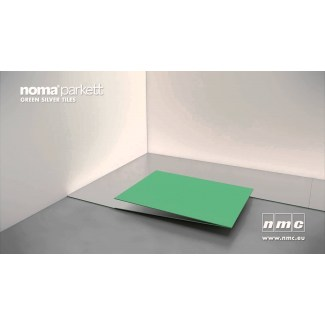NOMAPARKETT GREEN SILVER TILES 4mm 7 m2