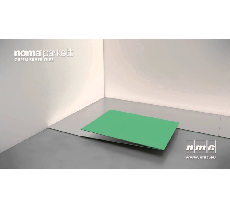 NOMAPARKETT GREEN SILVER TILES 4mm 7 m2