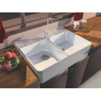 Ceramic Sink 2 Grape Harvests white.