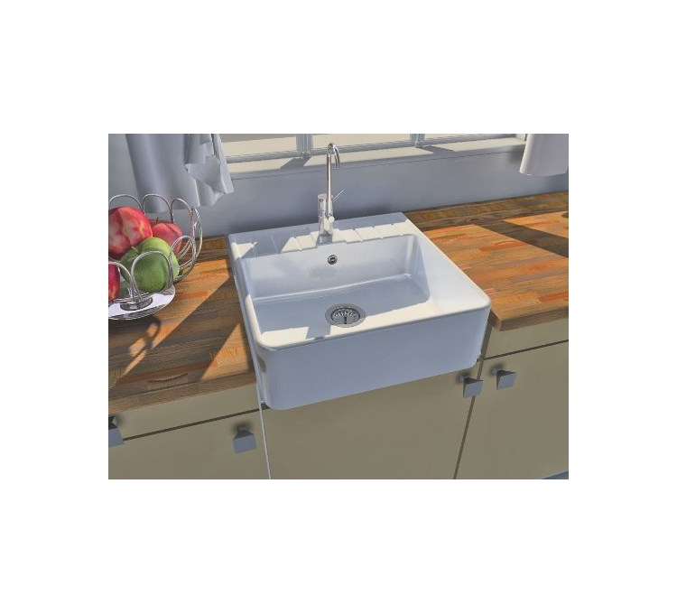 Ceramic Sink 1 Vigneron White Tray.