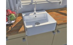 Ceramic Sink 1 Vigneron White Tray.
