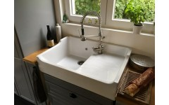 Ceramic Sink 1 Galley Galley White Grand Siecle