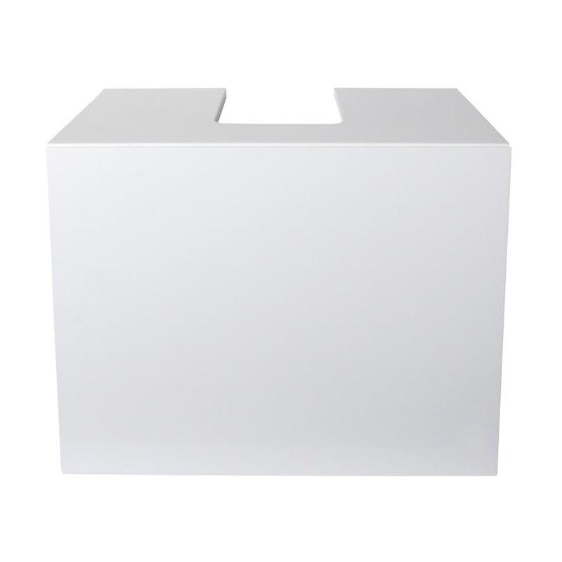 meuble de salle de bain sarr design blanc 43 cm