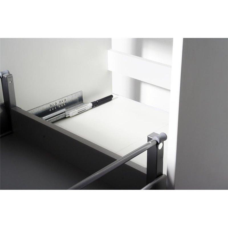 Meuble de salle de bain blanc 53 cm sarr design - Meuble salle de bain design blanc ...