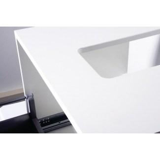 Weißes Badezimmerschrank 73CM