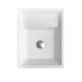 Eider White ceramic washbasin.