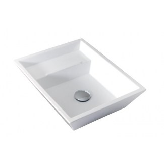 Eider White ceramic washbasin.