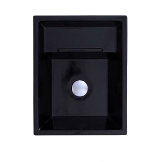 "Countertop ceramic washbasin ""Eider"" Lacquered Black"