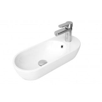 """Vasque Céramique à poser """"Pirogue""""Blanc"""