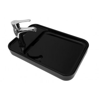 "Countertop Ceramic Washbasin ""Pastille"" Black."