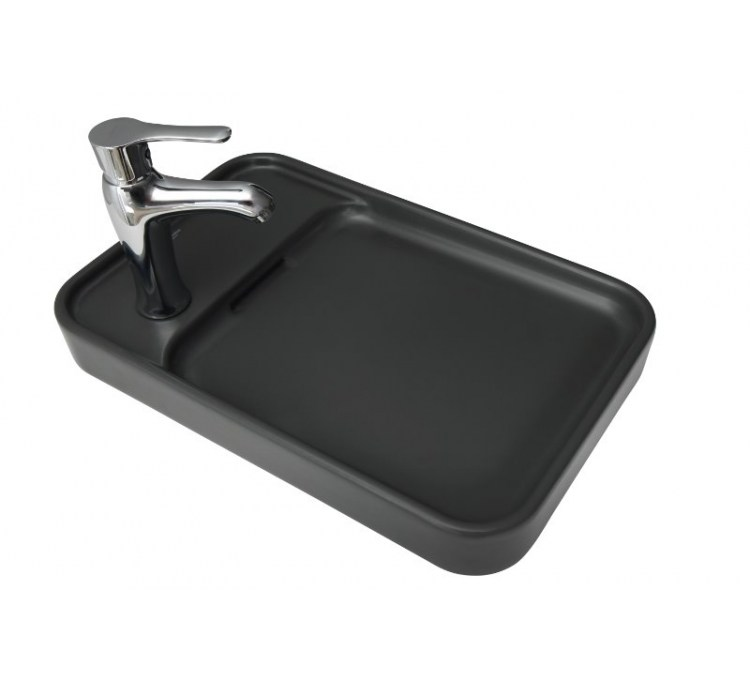 "Countertop Ceramic Washbasin ""Pastille"" Anthracite"