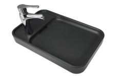 "Countertop Ceramic Washbasin ""Pastille"" Anthracite"