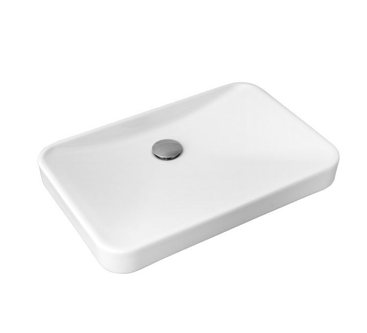 "White ceramic washbasin ""9.27"" White Sarreguemines"