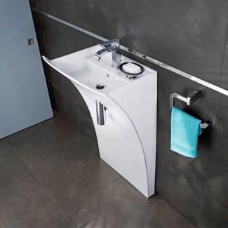"""Waschbecken aus Keramik """"Allure"""" Weiß"""