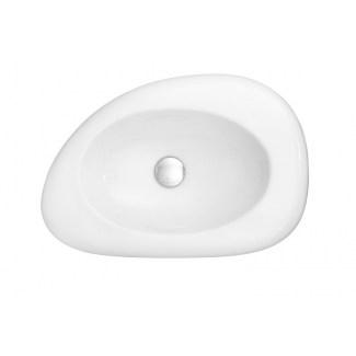 """Volubilis"" Satin White Ceramic Wash Basin"