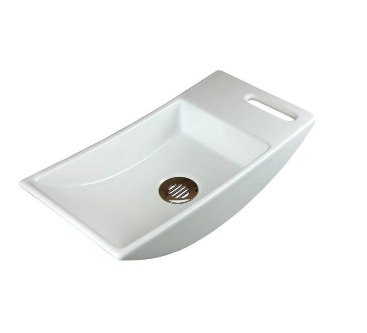 Lave-mains Diva Blanc Satiné