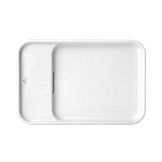 "Ceramic Countertop Large Pastille ""9.54"" White"