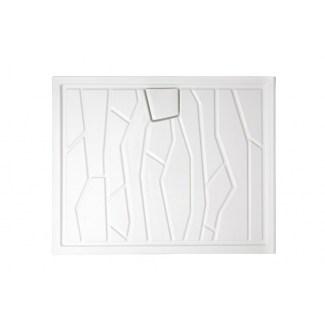 Arizona Ceramic Tray 100 X 80 cm White.