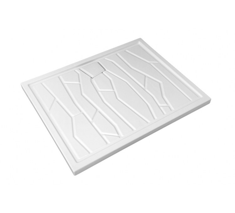 Arizona Ceramic Tray 100 X 80 cm White.