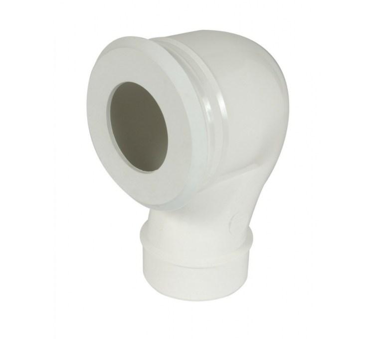Pipe wc réglable sortie verticale O100 entierement injectée en PVC