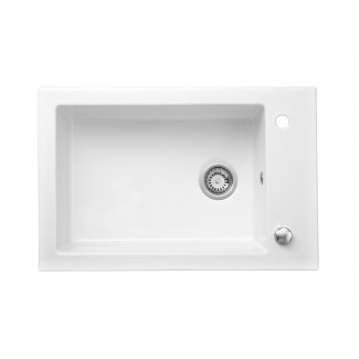 "Sink Ceramic built-in ""Ingot"" White 1Cuve."