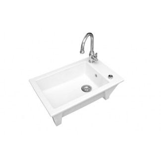 "Sink Ceramic built-in ""Ingot"" White 1Cuve."