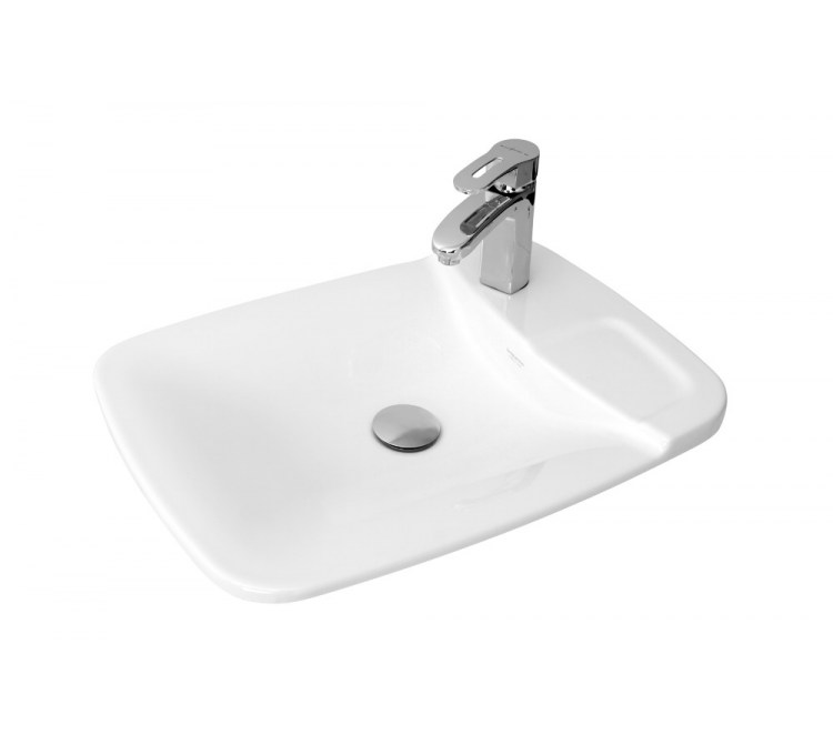 "Built-in ceramic washbasins ""Plume"" Galley stamp."