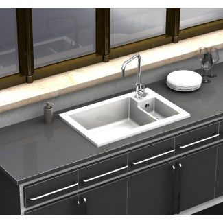 "Sink Ceramic built-in ""Ingot"" White 1.5 trays"
