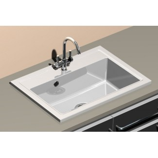 Sink Ceramic built-in Pinacle White Office Stamp Sarreguemines