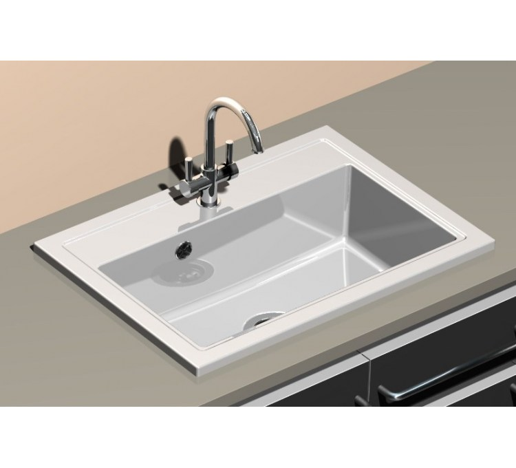 "Ceramic sink ""Pinacle"" white"