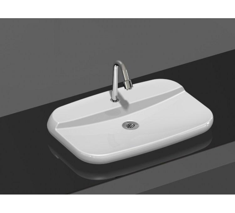 """Vasque Céramique à Poser """"Oxygen"""" Ardoise"""