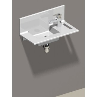 """Concept"" White Ceramic Wash Basin White"