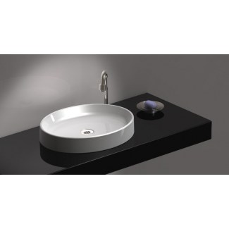 White Pearl Ceramic Basin.
