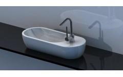 """Countertop ceramic washbasin """"Pirogue"""" White"""