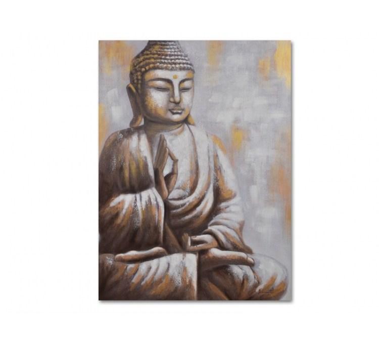 Toile Bouddha Doré