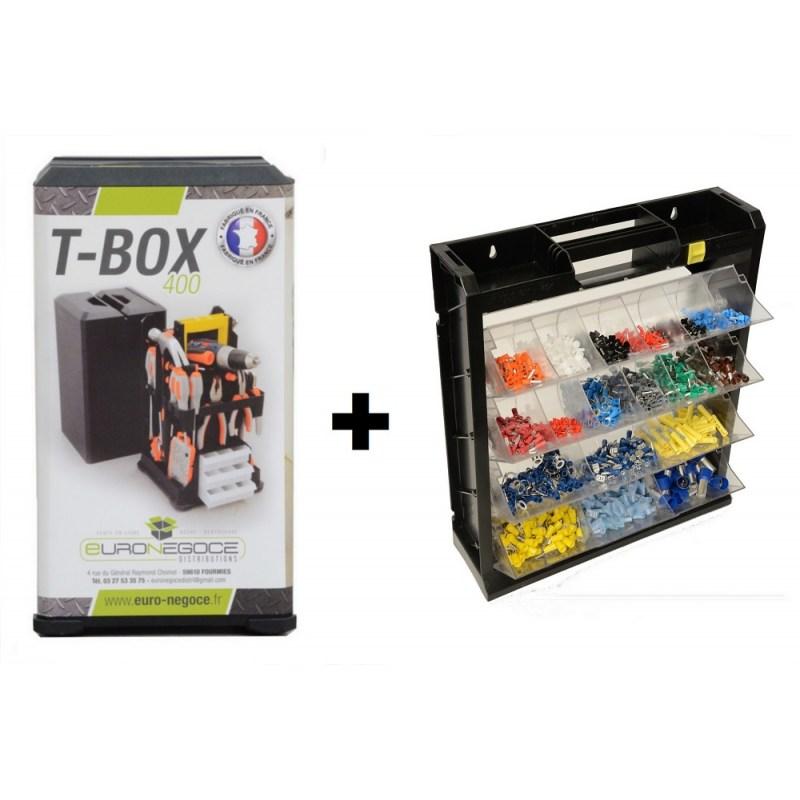 lot de boitiers de rangement tbox flipper box. Black Bedroom Furniture Sets. Home Design Ideas
