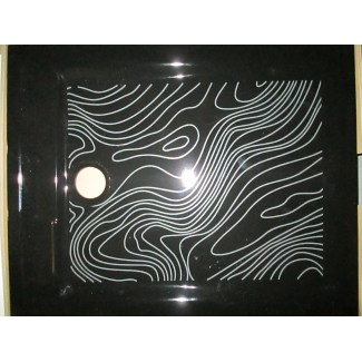 Ceramic shower tray Black