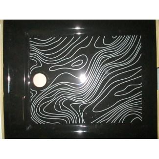Receveur de douche en céramique Noir