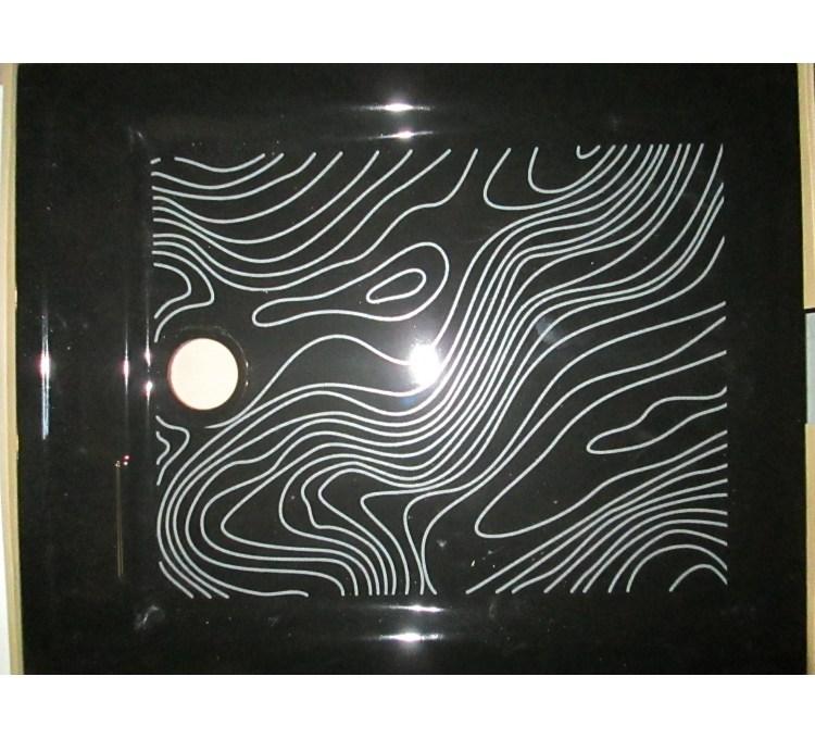 Receveur stile noir 100 X 80 cm