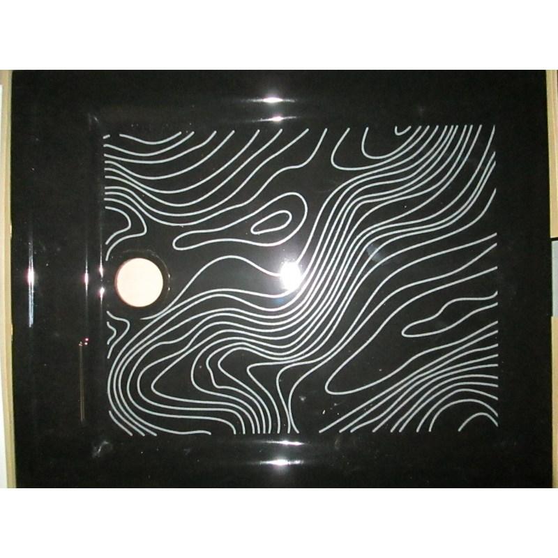 receveur de douche sarreguemines c ramique noir. Black Bedroom Furniture Sets. Home Design Ideas