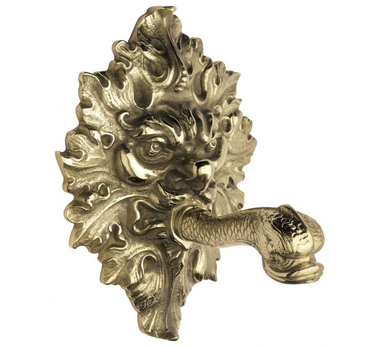 Brass Spout for Fountain with rosette
