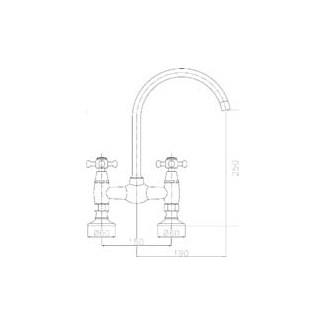 Robinet Pont Pour Evier 150mm