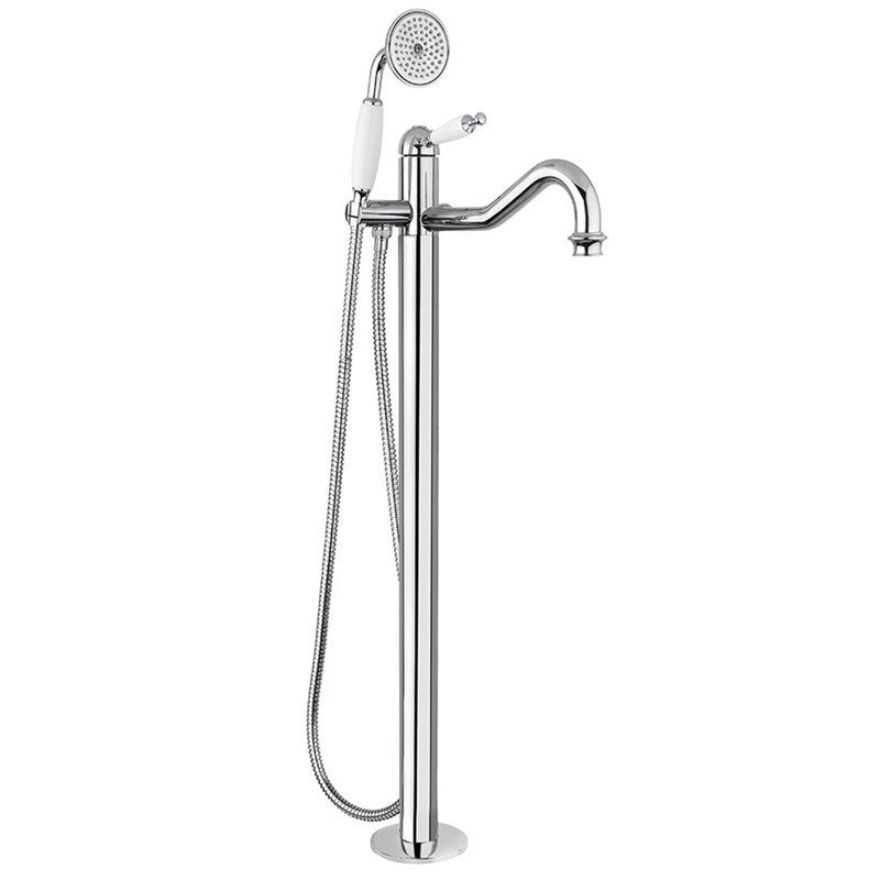 colonne de plancher bain douche avec flexible et douchette. Black Bedroom Furniture Sets. Home Design Ideas