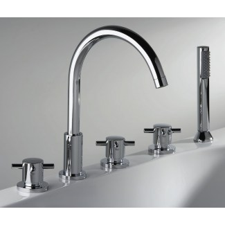 Kiko 5 Hole Thermostatic Thermostatic Thermostatic Mixer Taps