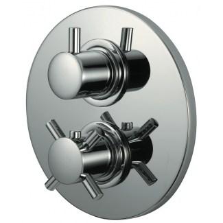Mezcladores Kiko empotrado 3/4 termostático con válvula de parada