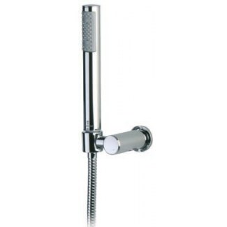 Chromed brass shower kit without water intake